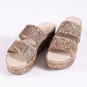Matisse struttin platform calf hair sandal